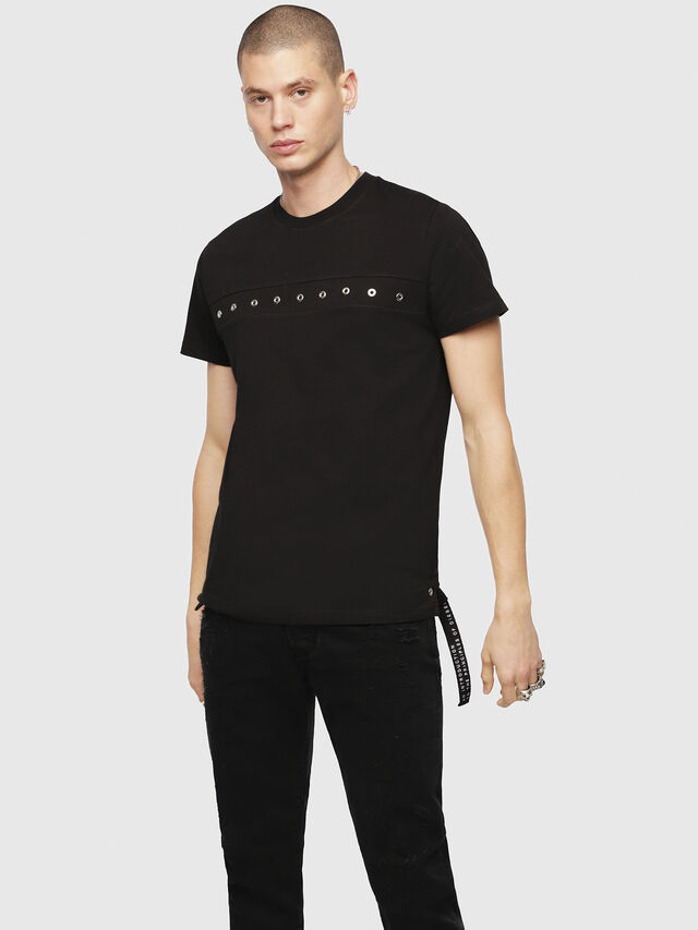 Diesel - T-DIEGO-XMAS, Schwarz - T-Shirts - Image 1