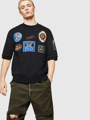 S-MAGGY-SH-PATCH, Schwarz - Sweatshirts