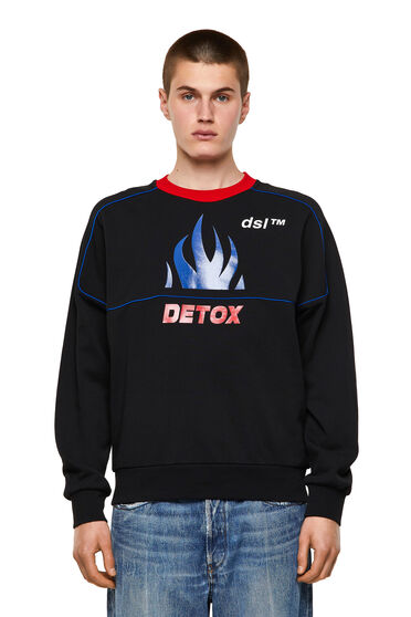 Sweatshirt mit Detox-Print