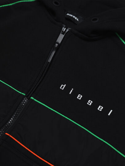 Diesel - SLAINZIP OVER, Schwarz - Sweatshirts - Image 3