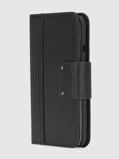 Diesel - BLACK LINED LEATHER IPHONE 8/7 FOLIO,  - Klappcover - Image 2