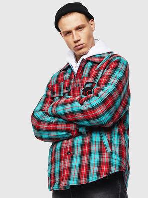 S-JOHNS, Grün/Rot - Hemden