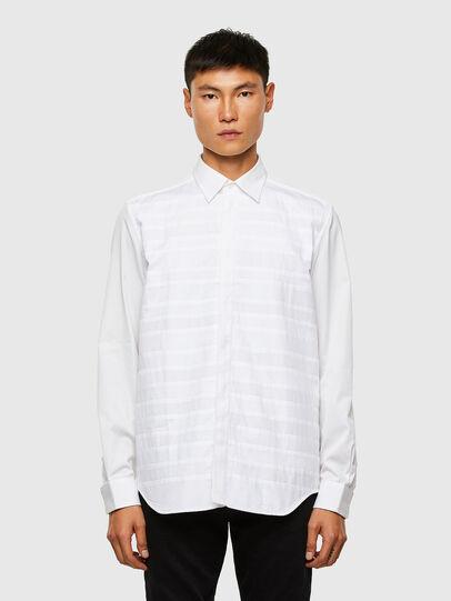 Diesel - S-WEIR, Weiß - Hemden - Image 1