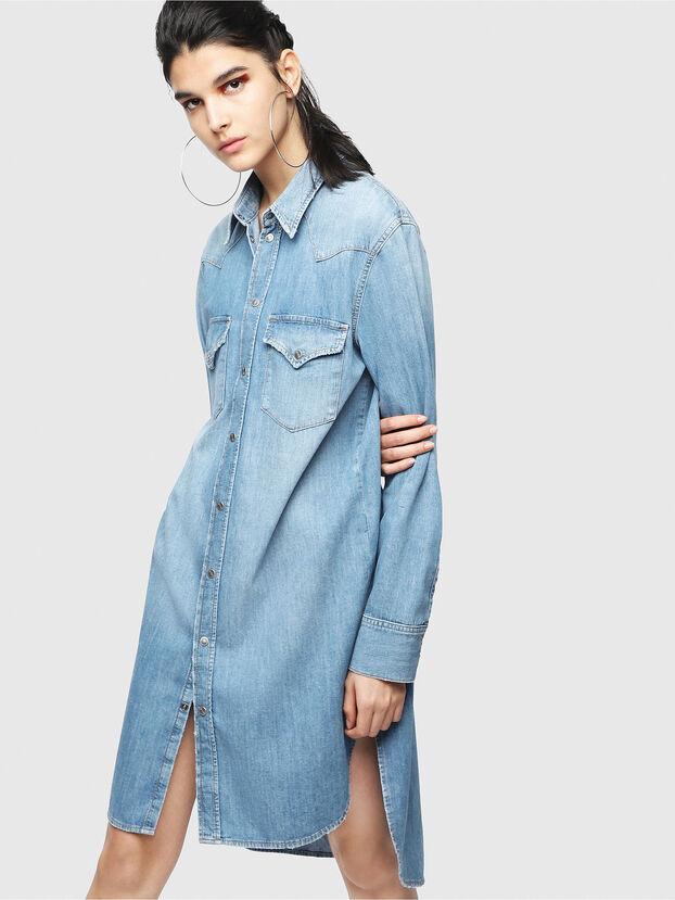 DE-BLANCHE, Jeansblau - Kleider