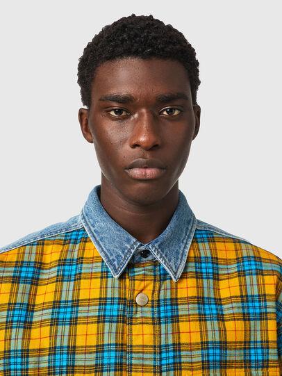 Diesel - S-BUN, Blau/Gelb - Hemden - Image 3
