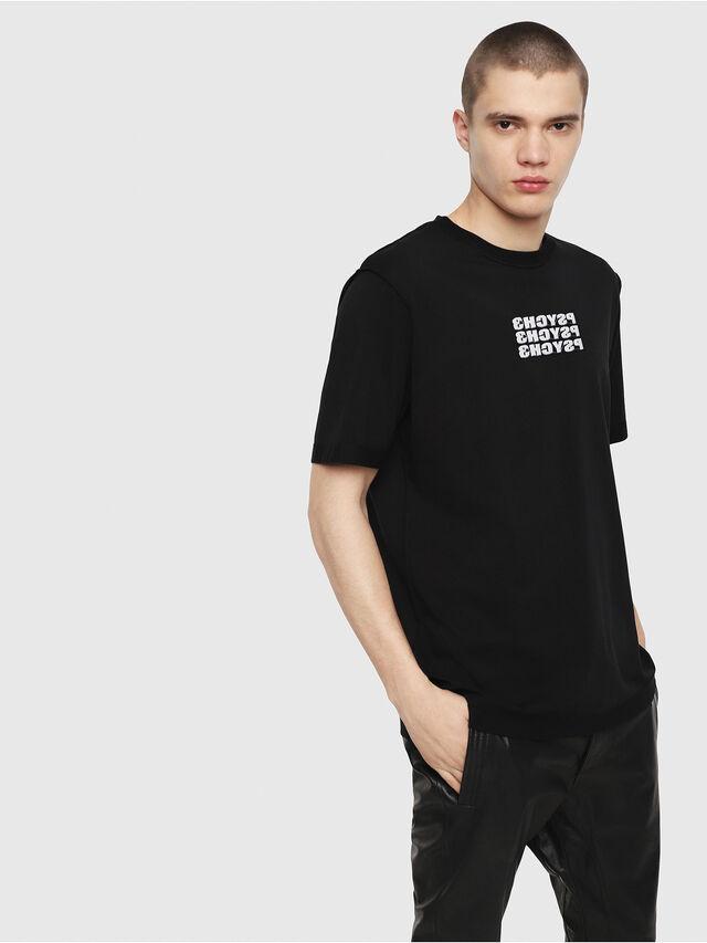 Diesel - T-JUST-Y9, Schwarz - T-Shirts - Image 1