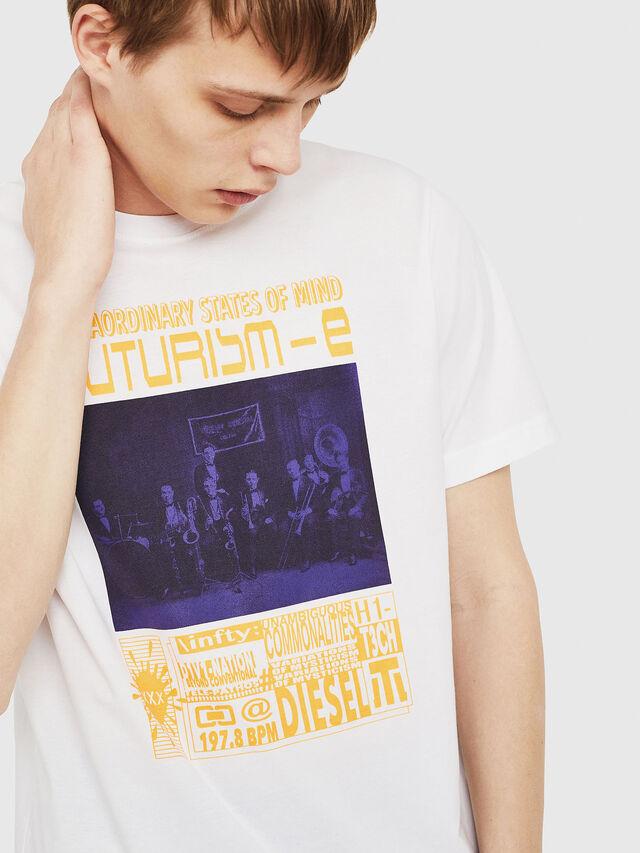 Diesel - T-JUST-Y16, Weiß - T-Shirts - Image 4