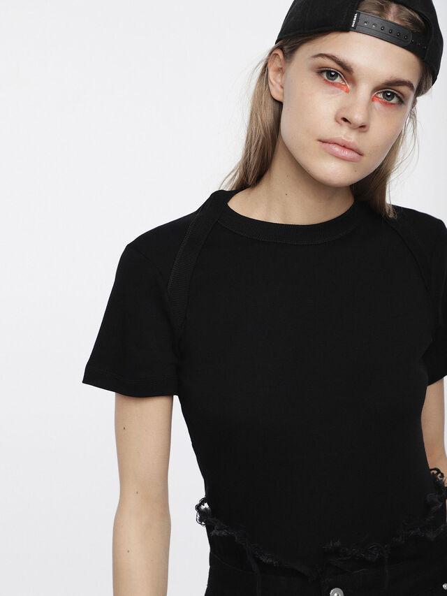 Diesel - T-SALI-A, Schwarz - T-Shirts - Image 3