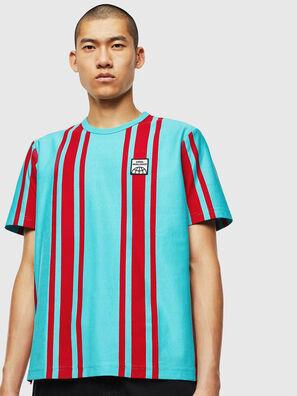 T-STRIP-J1, Blau/Rot - T-Shirts