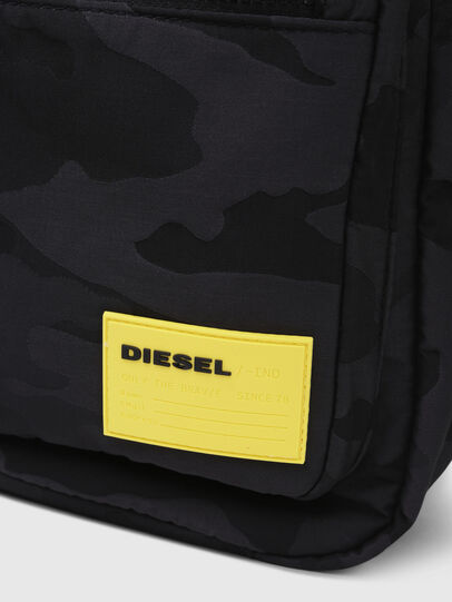 Diesel - F-DISCOVER BACK, Schwarz/Gelb - Rucksäcke - Image 5