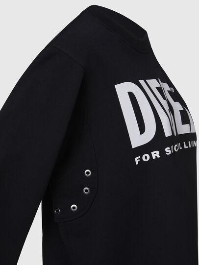 Diesel - F-ANG, Schwarz/Weiss - Sweatshirts - Image 4