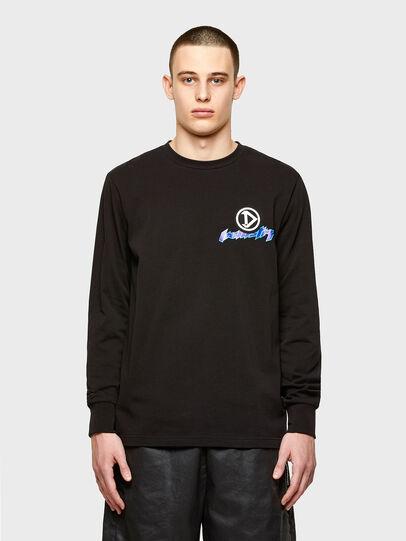Diesel - T-JUST-LS-E1, Schwarz - T-Shirts - Image 1
