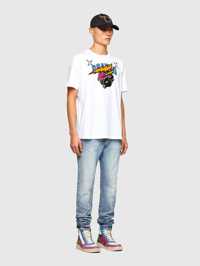 Diesel - CL-T-JUST-O1, Weiß - T-Shirts - Image 7