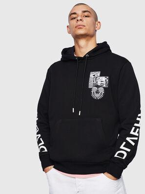 S-GIRK-HOOD-S4, Schwarz - Sweatshirts