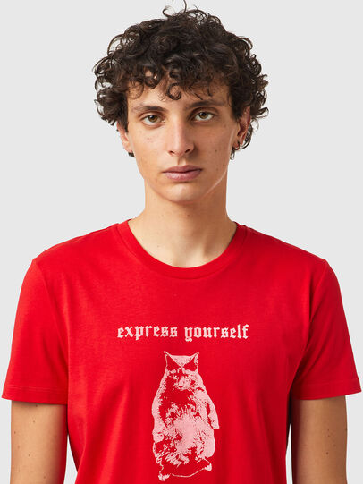 Diesel - T-INY-B2, Rot - T-Shirts - Image 3