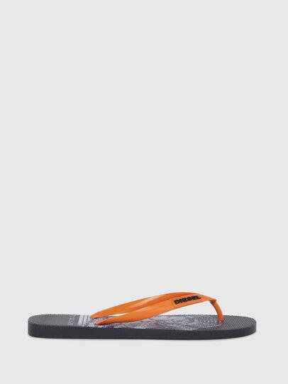 Diesel - SA-BRIIAN, Schwarz/Orange - Pantoletten - Image 1