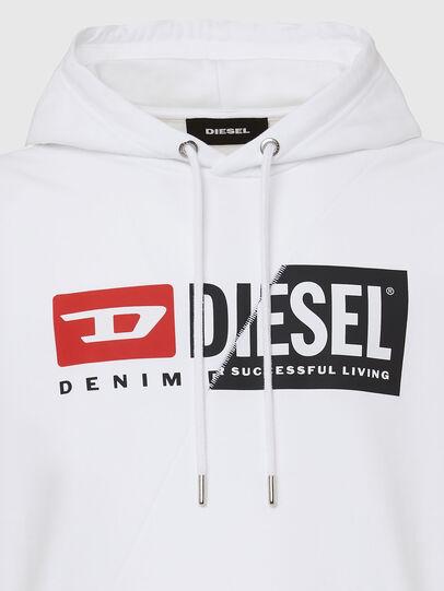 Diesel - S-GIRK-HOOD-CUTY, Weiß - Sweatshirts - Image 3