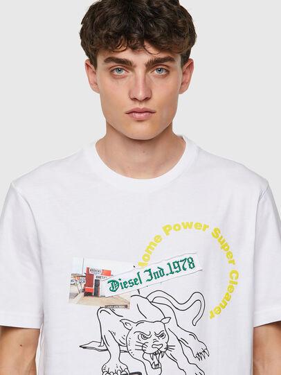 Diesel - T-JUST-B60, Weiß - T-Shirts - Image 3