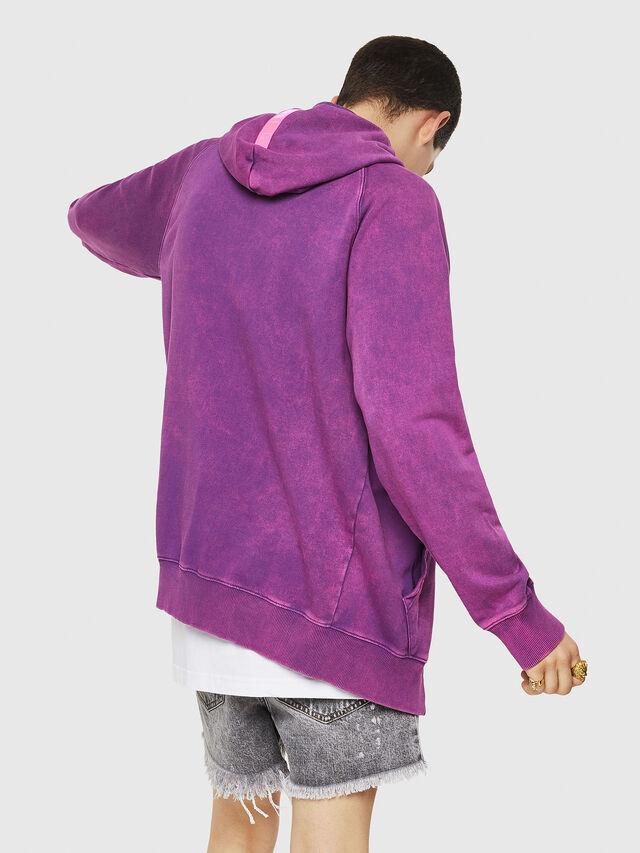 Diesel - S-GIM-HOOD-ZIP, Violett - Sweatshirts - Image 2