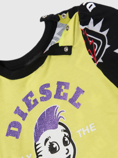 Diesel - TULLAB, Schwarz/Gelb - T-Shirts und Tops - Image 2