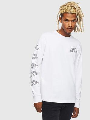 T-DIEGO-LS-J1, Weiß - T-Shirts