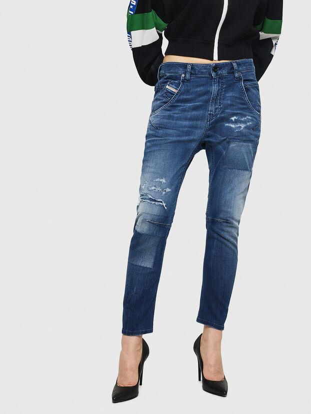 Fayza JoggJeans 069HB, Mittelblau - Jeans