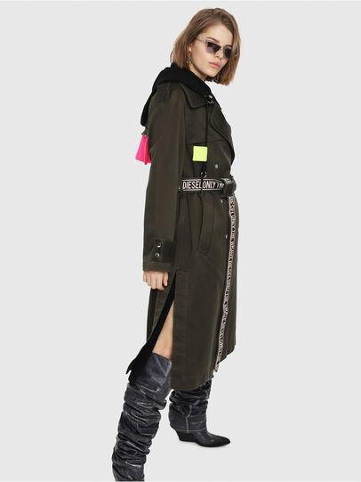 release date: a87d5 2242d G-ACIR-B Damen: Trenchcoat aus Baumwollsatin mit Kapuze | Diesel