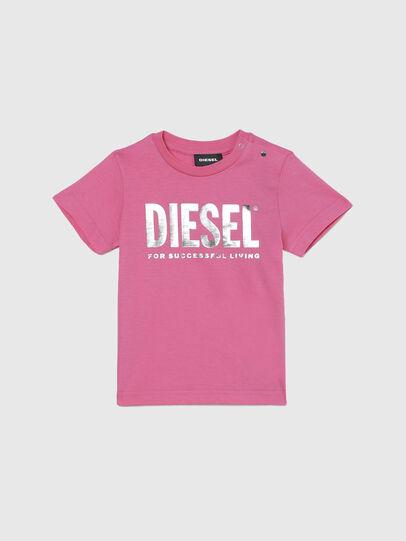 Diesel - TJUSTLOGOB-FL MC, Rosa - T-Shirts und Tops - Image 1
