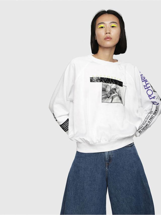 Diesel - F-JUSTY, Weiß - Sweatshirts - Image 1