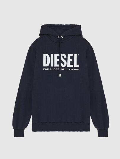 Diesel - S-GIR-HOOD-DIVISION-, Dunkelblau - Sweatshirts - Image 1