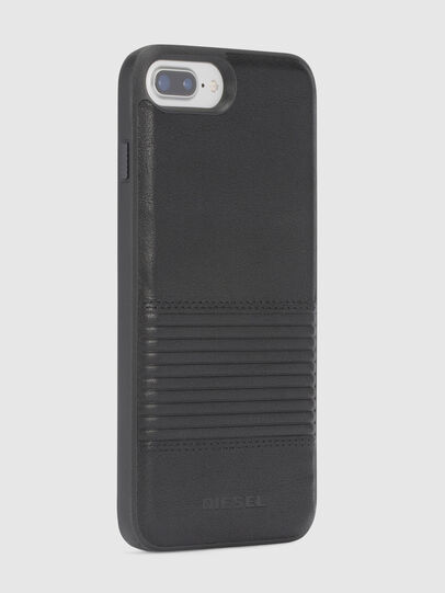 Diesel - BLACK LINED LEATHER IPHONE 8 PLUS/7 PLUS/6s PLUS/6 PLUS CASE, Schwarz - Schutzhüllen - Image 5