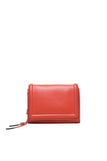 Crossbody-Tasche aus Kunstnappa mit Reißverschlussbesatz