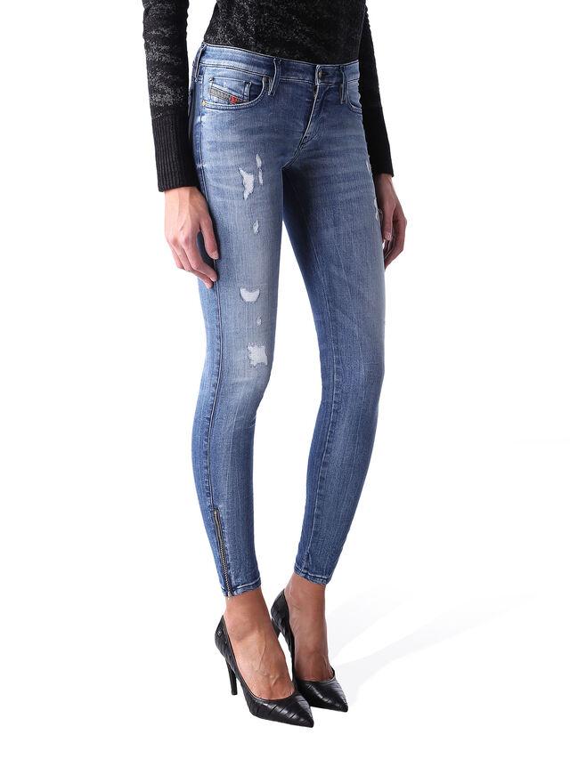 Diesel - Skinzee Low Zip 0847U, Mittelblau - Jeans - Image 2