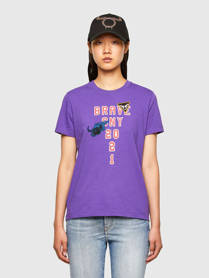 Diesel - CL-T-SILY-O, Violett - T-Shirts - Image 1
