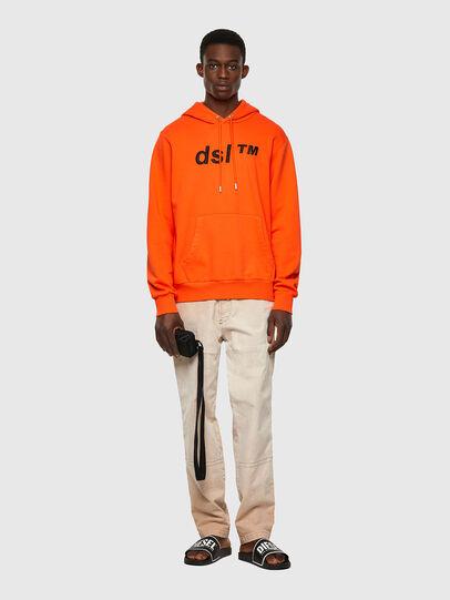 Diesel - S-GIRK-HOOD-B4, Orange - Sweatshirts - Image 4