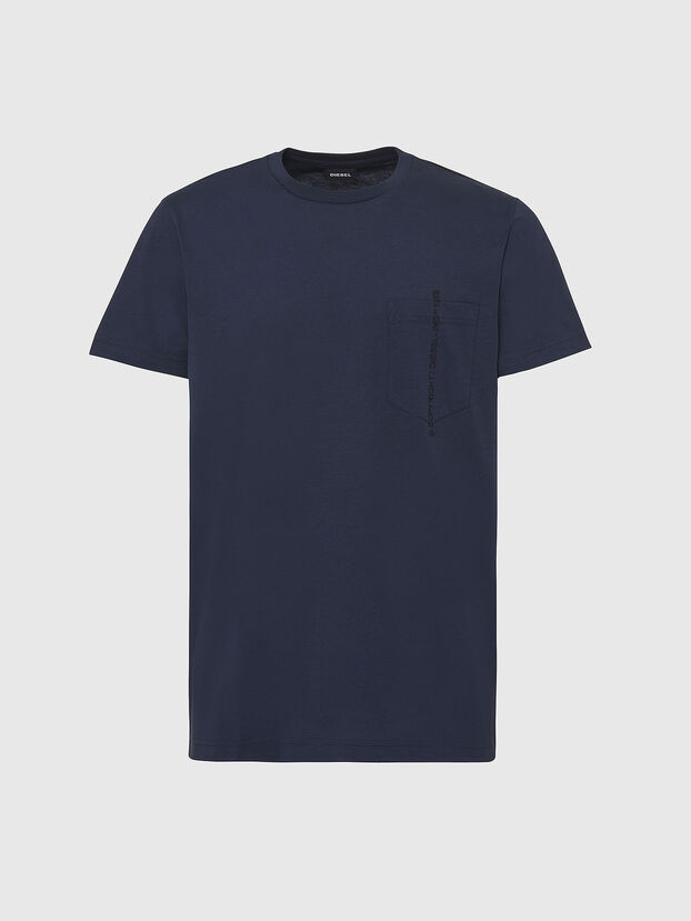 T-RUBIN-POCKET-J1, Dunkelblau - T-Shirts