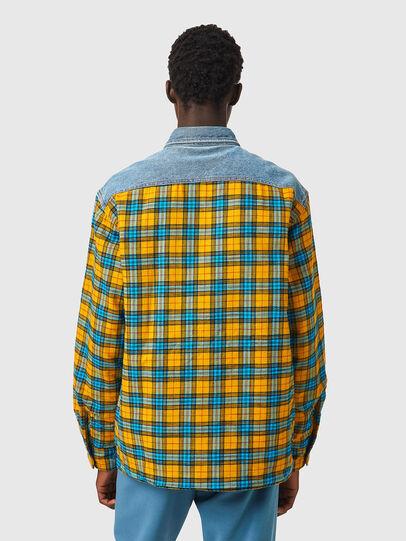 Diesel - S-BUN, Blau/Gelb - Hemden - Image 2