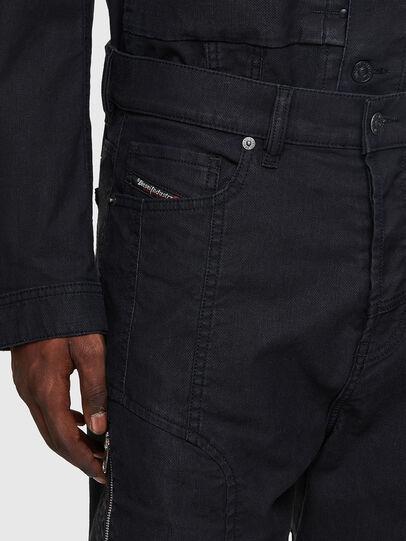 Diesel - D-VIDER JoggJeans® 0DDAX, Schwarz/Dunkelgrau - Jeans - Image 4