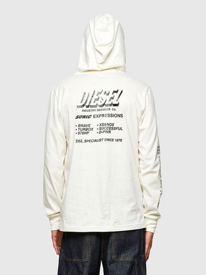 Diesel - T-JUST-LS-HOOD-SLITS, Weiß - T-Shirts - Image 2