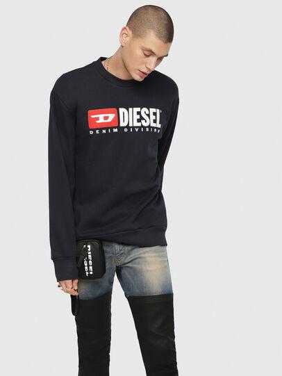 Diesel - S-CREW-DIVISION, Dunkelblau - Sweatshirts - Image 1