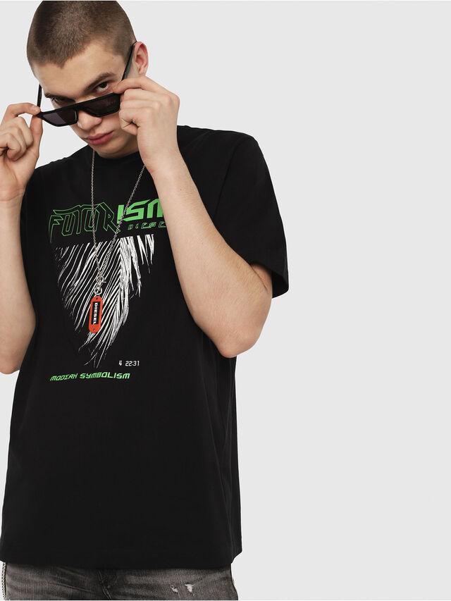 Diesel - T-JUST-Y25, Schwarz - T-Shirts - Image 1