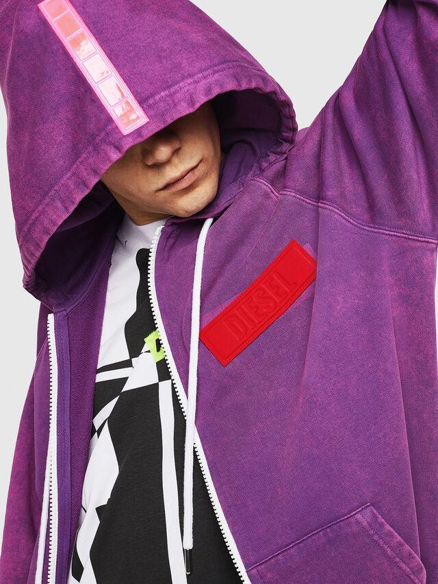 Diesel - S-GIM-HOOD-ZIP, Violett - Sweatshirts - Image 3