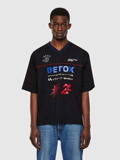 Diesel - T-DELPHIVY-SLITS, Schwarz - T-Shirts - Image 1