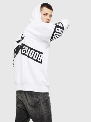 S-ALBY-ZIP-A1, Weiß/Schwarz - Sweatshirts