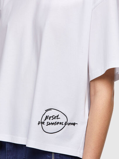 Diesel - T-BOWBOW, Weiß - T-Shirts - Image 4