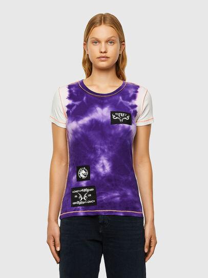 Diesel - T-SUPERY-V10, Weiss/Violett - T-Shirts - Image 1