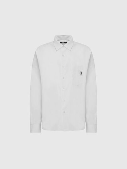 Diesel - S-LOOMY-A, Weiß - Hemden - Image 1