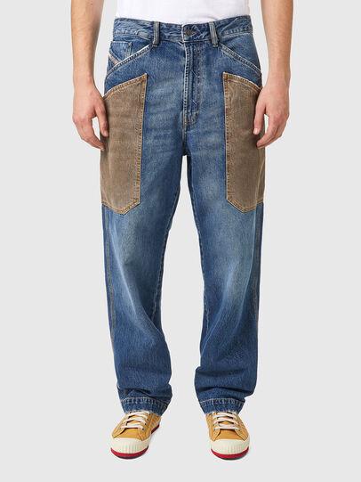 Diesel - D-Franky 0GCAY, Mittelblau - Jeans - Image 1