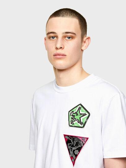 Diesel - T-JUBIND-SLITS-E1, Weiß - T-Shirts - Image 3