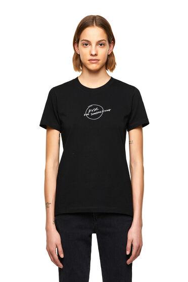 T-Shirt mit gekritzeltem Logo-Print